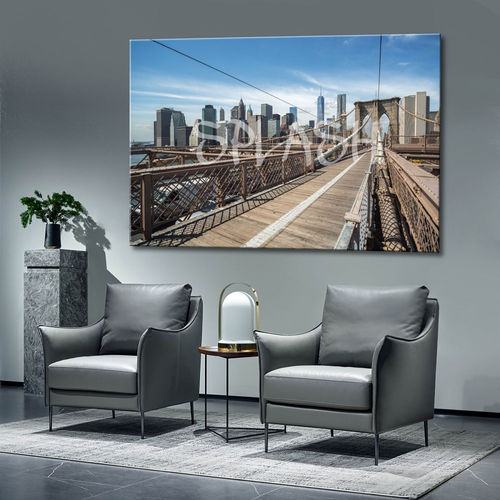 New York Painting Printed Bridge