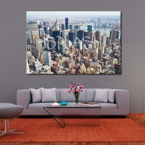 New York Air View Canvas