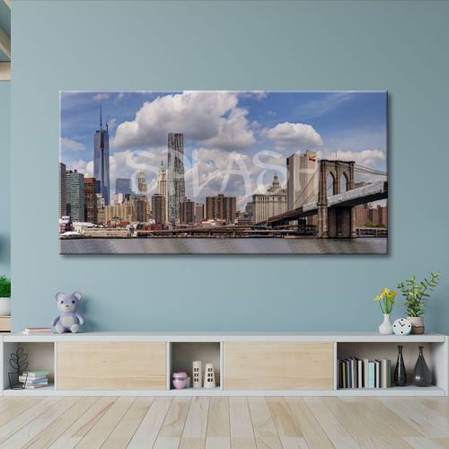 New York panoramic printed canvas