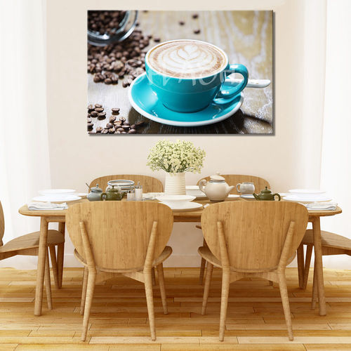 Turquoise Coffee Cup Kitchen Painting