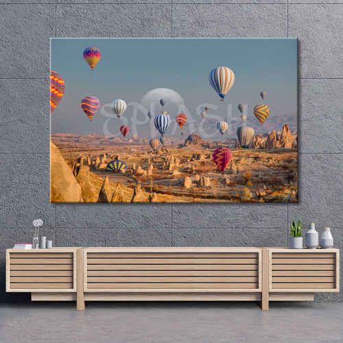 Balloon Landscape Painting