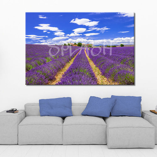 Country Landscape Painting with Lavender
