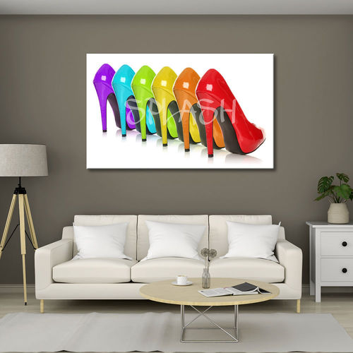 Pop Art Painting High Heels Colors