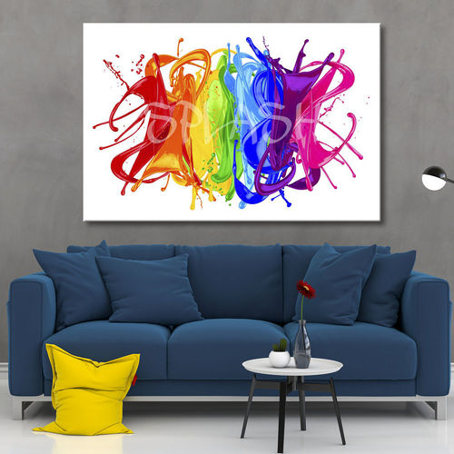 Abstract Painting Splash Colorful