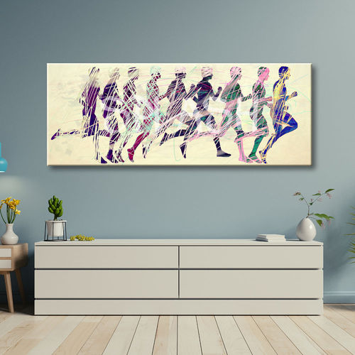 Figurative painting Running