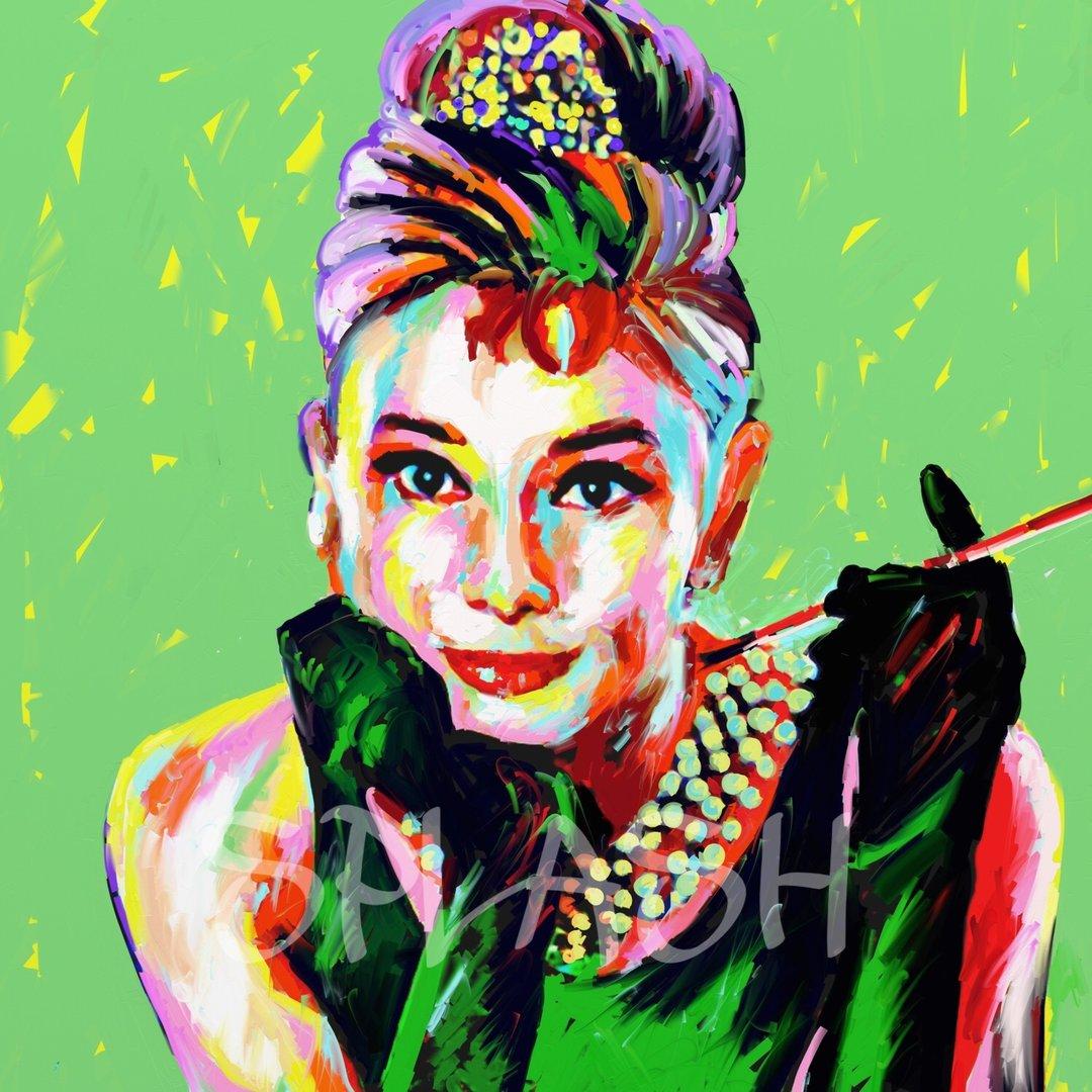 Cuadro de audrey hepburn cuadros pop art tiendas de cuadros modernos splash - Audrey hepburn cuadros ...