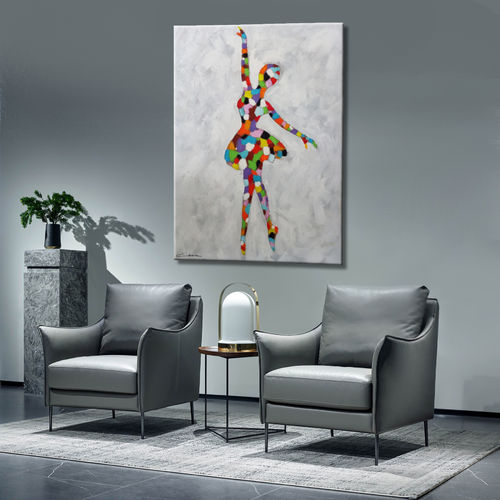 Abstract dancer's painting and colors