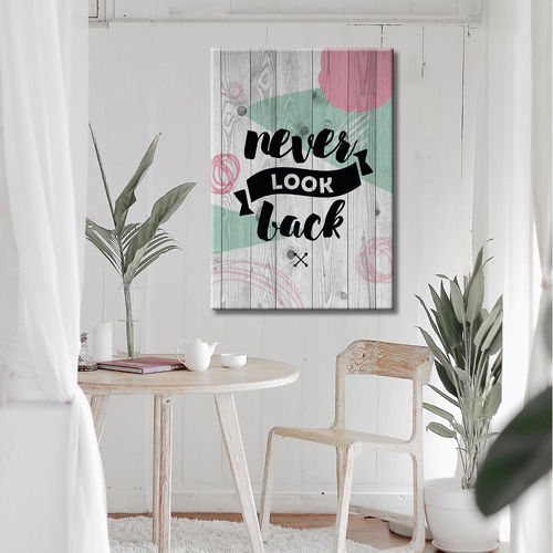 Vintage wood phrase painting