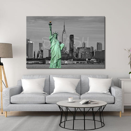 Cuadro skyline New York blanco y negro