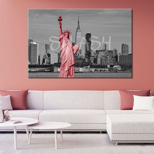 New York Painting & Statue of Liberty