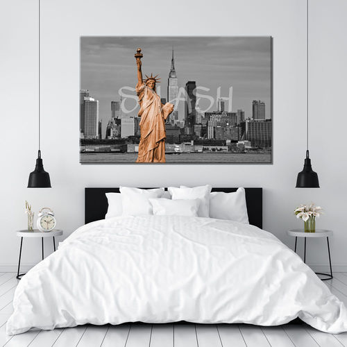 Skyline New York Orange Painting