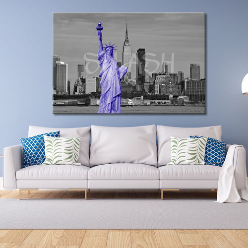 New York Statue of Liberty Mauve Painting
