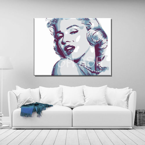 Marilyn pop art painting Printed on canvas