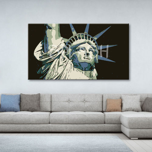 Statue of Liberty painting pop art
