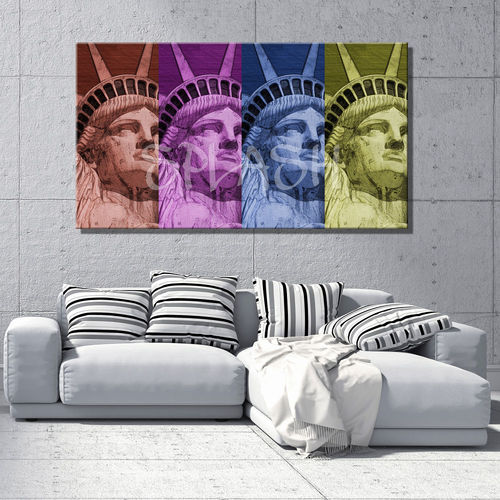 Statue Liberty painting pop art
