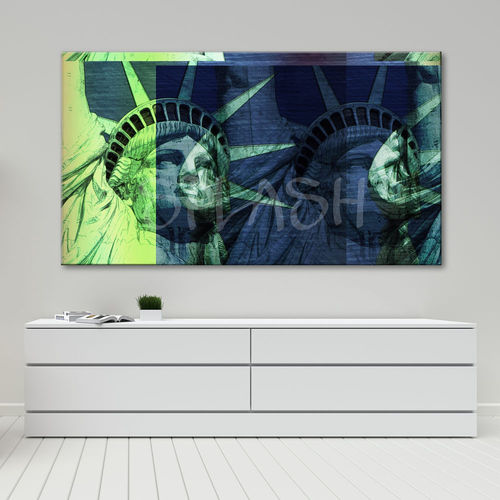 Pop art painting of the Statue of Liberty