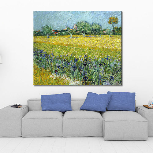 Van Gogh painting field of lilies
