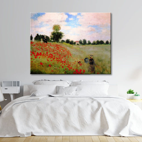 Printed Poppy Field Monet Painting