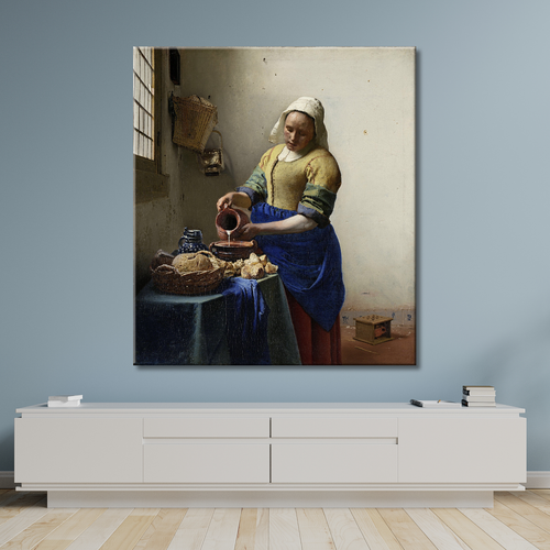 Vermeer Printed the milkmaid Painting