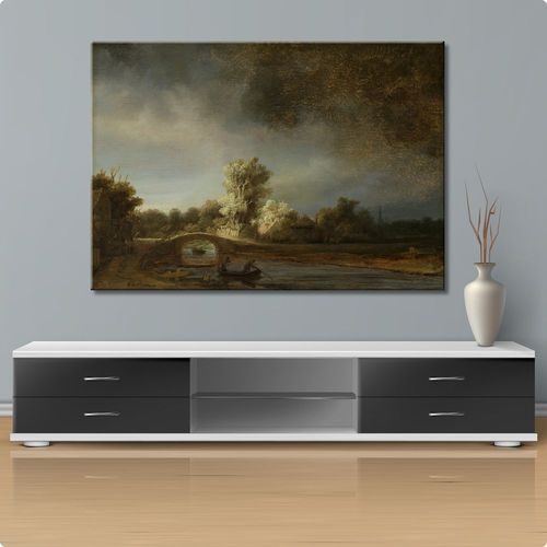 Picture of Rembrandt landscape with bridge