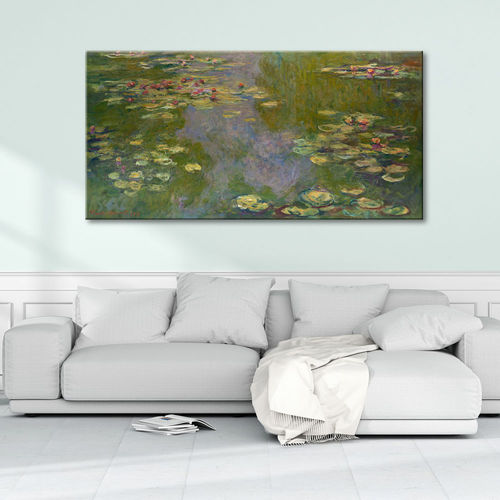 Claude Monet's painting with water lilies
