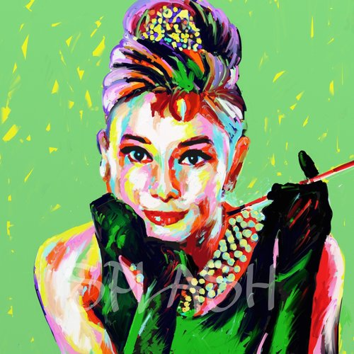Retrato pop-art Audrey Hepburn SPR2