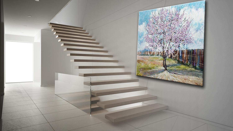 Cuadros de paisajes cuadro arboles tienda de cuadros splash - Cuadros para subida escaleras ...