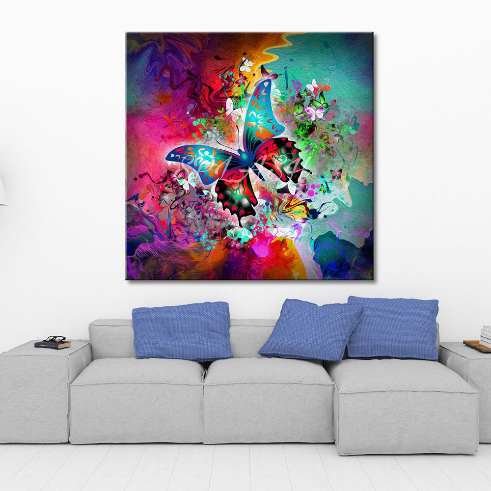 Cuadro moderno abstracto mariposa impreso cuadros splash - Cuadros modernos ...