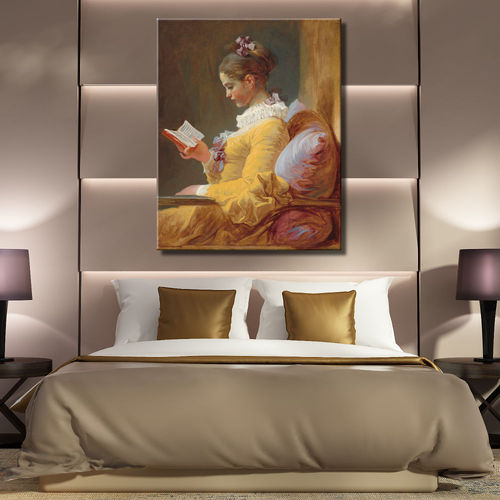 Picture girl reading from Honore Fragonard