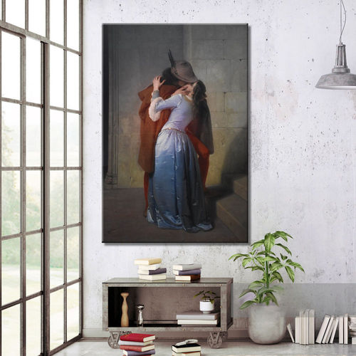 The Kiss of Francesco Hayez Romantic Painting