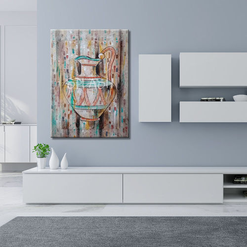 Modern painting abstract vase painted