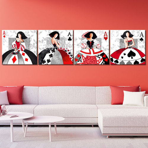 Meninas Poker Paintings game printed