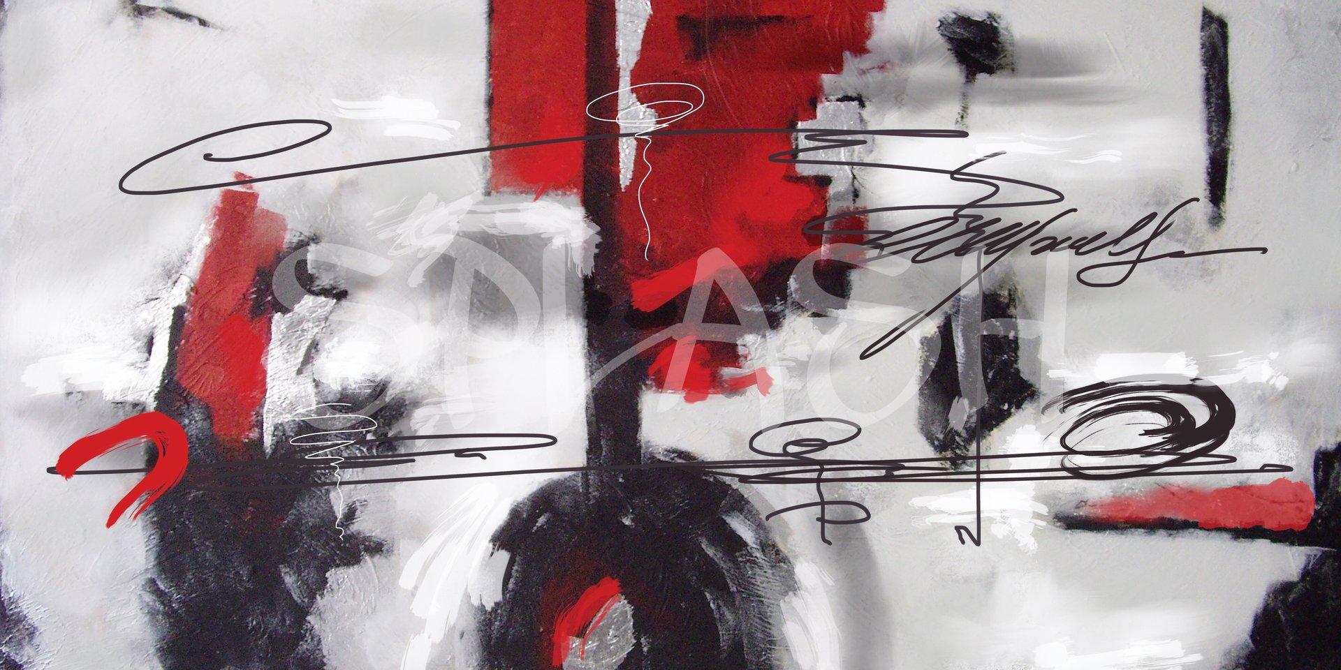Cuadro abstracto blanco rojo negro tiendas de cuadros for Imagenes de cuadros abstractos para colorear