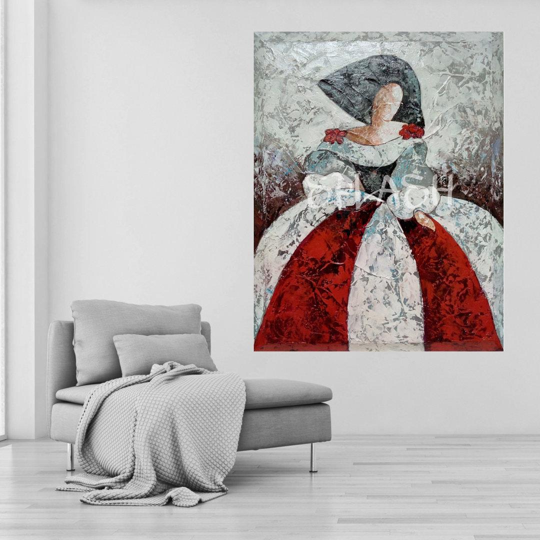Cuadro menina textura cuadros para sal n tienda cuadros de - Cuadros de meninas modernos ...