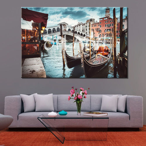 Printed Venice Rialto Bridge painting