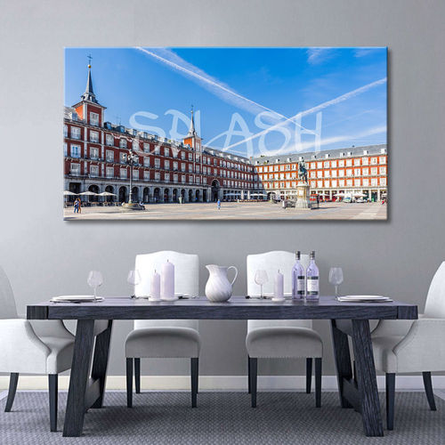 Cityscape of Madrid Plaza Mayor
