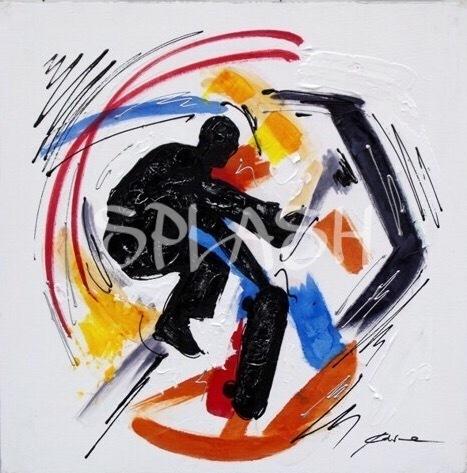 Cuadros juveniles cuadro decorativo skater tiendas de cuadros modernos splash - Cuadros juveniles modernos ...