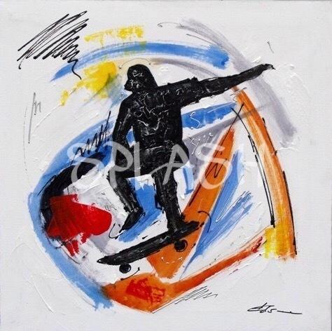 Cuadros juveniles pop art cuadro skater 3 tienda de cuadros modernos splash - Cuadros juveniles modernos ...