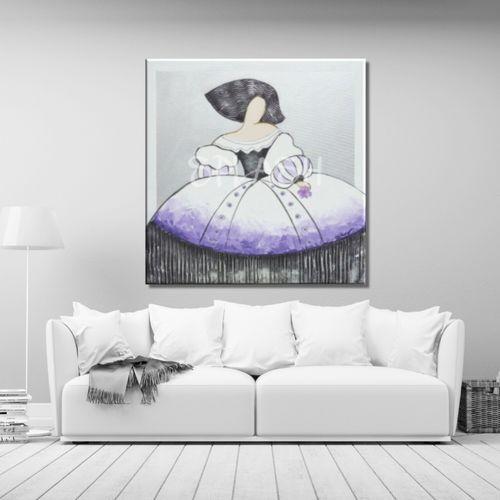 Cuadro menina malva y blanca comprar cuadros de meninas - Cuadro meninas moderno ...