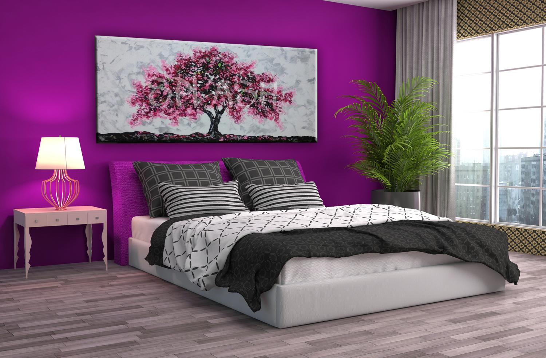 Cuadro rbol magenta texturas tienda de cuadros modernos online splash - Cuadros para cuartos juveniles ...