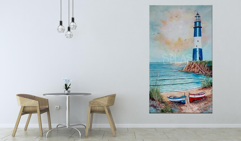 Cuadros de marinas cuadro faro marino tiendas de cuadros for Cuadros de marinas