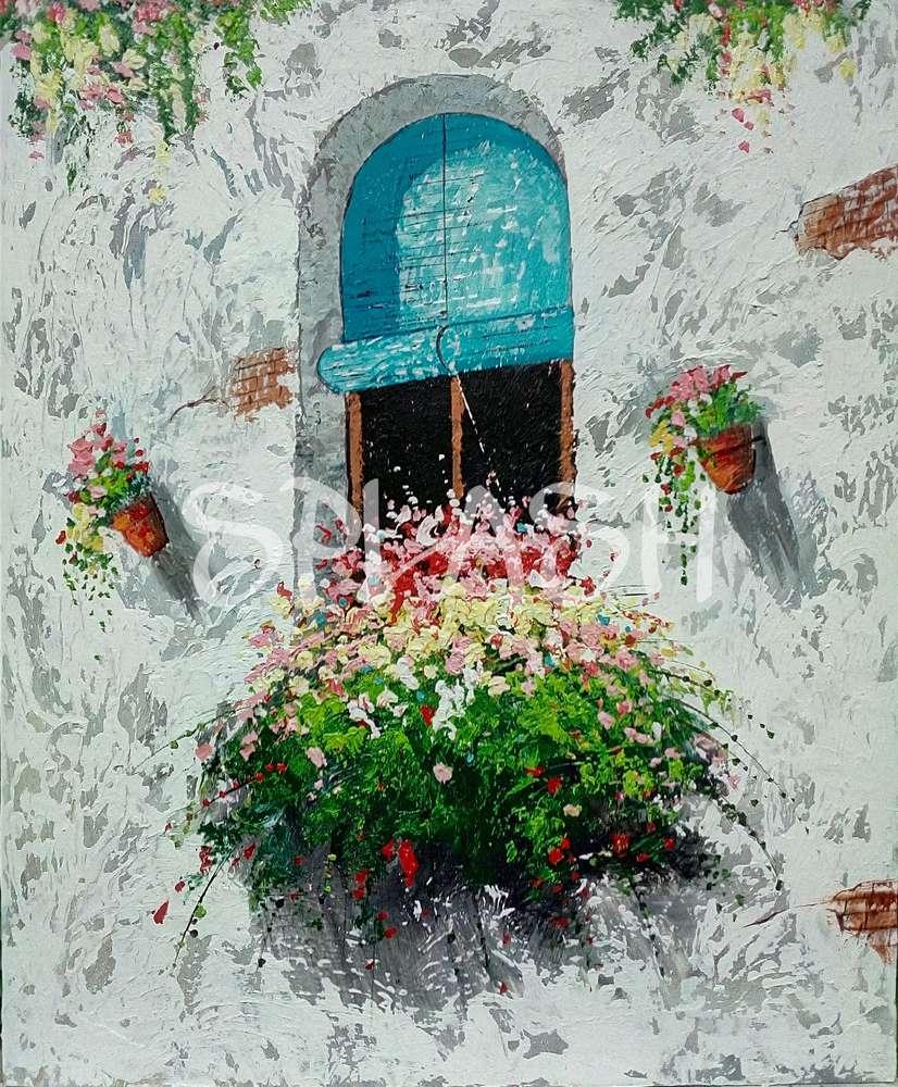 Cuadro Ventana con flores|Tienda de Cuadros Modernos Online|Cuadros ...