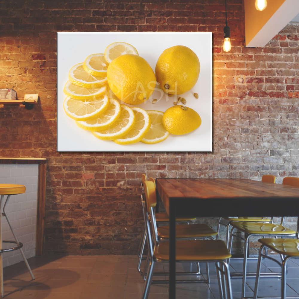 Cuadros Cocinas Bodegones Limones Amarillos Grandes Impresoscuadros - Cuadros-de-cocinas