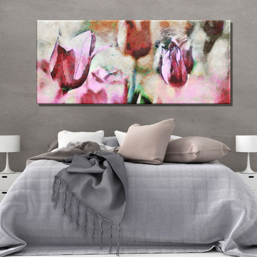 Picture of flowers printed magenta tulips