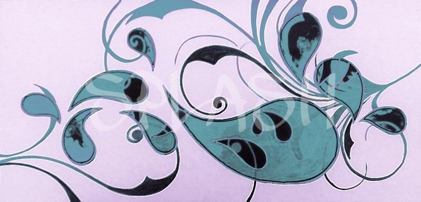 Cuadros Abstractos-turquesa