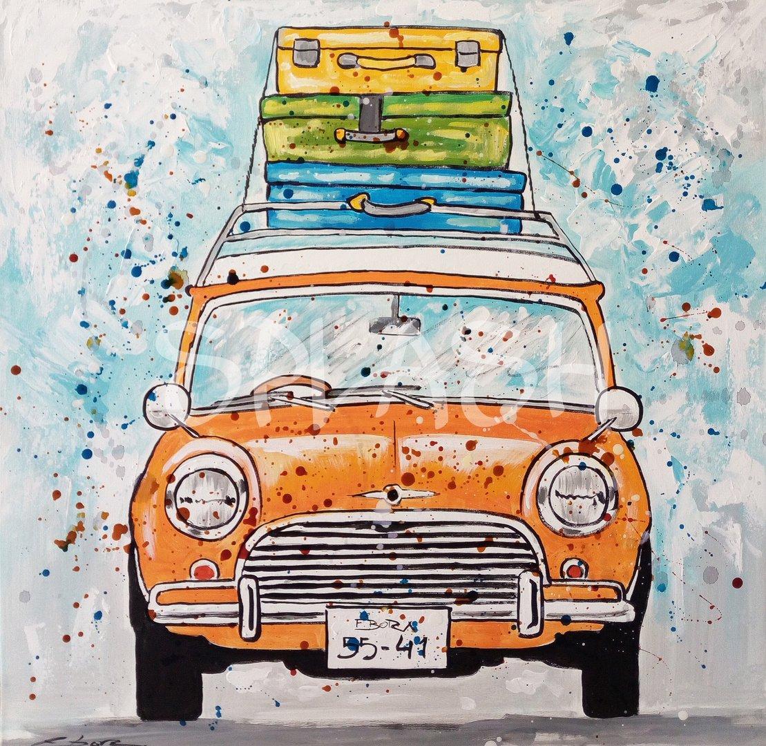 Cuadros juveniles coche mini cuadros modernos pop art - Cuadros para dormitorios juveniles ...