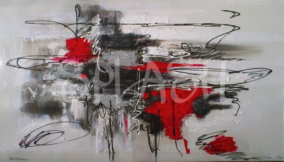 Cuadros abstractos rojos y negros tienda de cuadros - Dormitorio negro y rojo ...