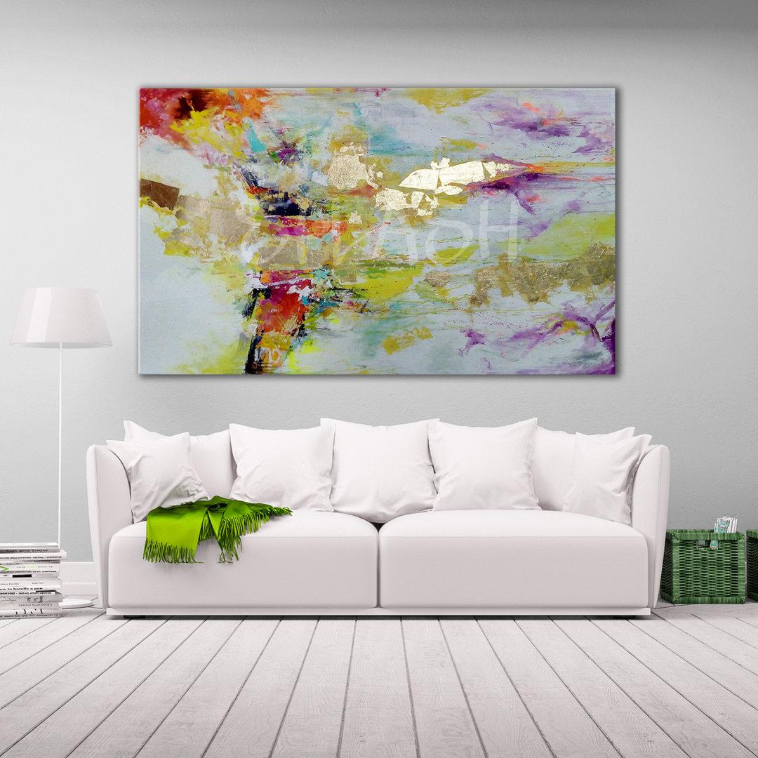 Cuadros Abstractos Pan De Oro Modernos Decorativos Baratos