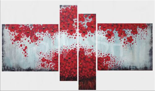 Modular Red Flower Painting