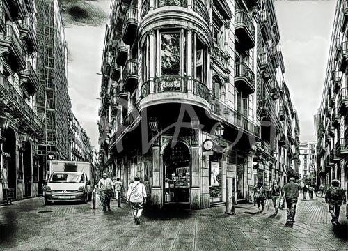 Cuadros de ciudades cuadros urbanos tiendas de cuadros - Cuadros baratos barcelona ...